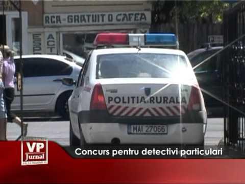 Concurs pentru detectivi particulari