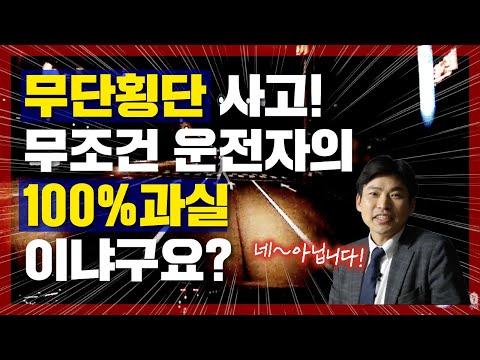해석 블랙박스 #2 - 무단횡단 보행자 충돌, 차량 운전자의 과실이 100%?