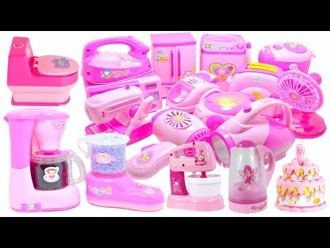 Pink Kitchen & Home Appliance Cooking Toys For Kids Compilation