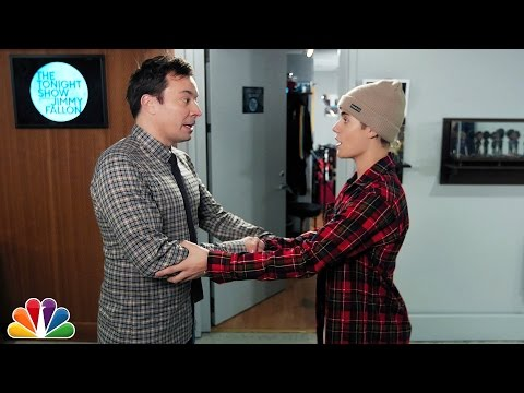 Jimmy Fallon Performs Secret Handshake With Justin