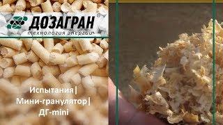 Видео ДГ-Mini - Пресс-грануляторы плоскоматричные