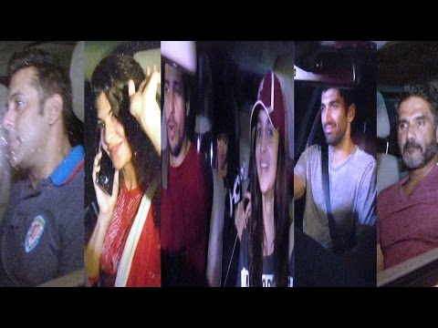 Alia, Sidharth, Salman, Aditya & Others At Special Screening Of Movie Kick