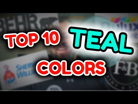 TOP 10 TEAL PAINT COLORS | Awesome Green and Blue Wall Colors