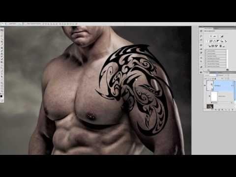 PHOTOSHOP TUTORIAL Add A Pain Free Tattoomov