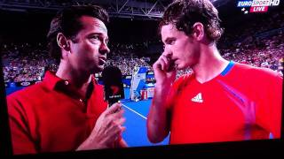 Andy Murray interview - Aust Open 2012
