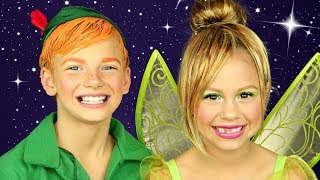 Video Peter Pan and Tinkerbell Makeup and Costumes MP3, 3GP, MP4, WEBM, AVI, FLV Agustus 2018
