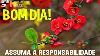 Mensagem de Bom Dia /Assuma a Responsabilidade e Viva de Forma Mais Consciente !