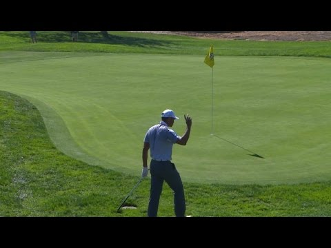 Tiger Woods' delicate chip shot saves par at Farmers