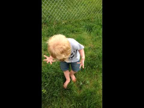 la reazione di un bimbo dopo aver pestato una cacca è divertentissima!
