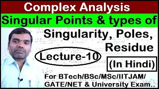 Complex Analysis - Singular Points and Residue in Hindi(Lecture10)