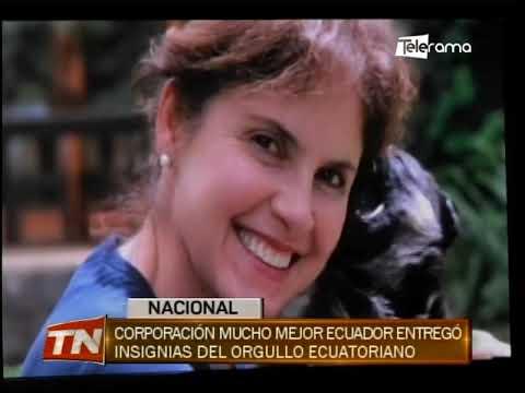 Corporación Mucho Mejor Ecuador entregó insignias del orgullo ecuatoriano