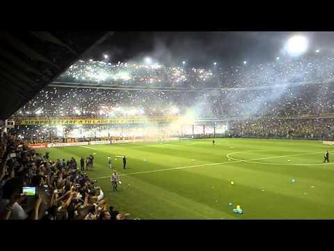 Video - El recibimiento de la hinchada de Boca ante River - La 12 - Boca Juniors - Argentina