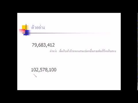 คณิตศาสตร์ ป.6 เรื่อง จำนวนนับ (1)