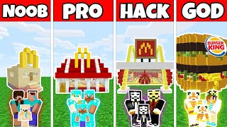 Video Minecraft: FAMILY FAST FOOD RESTAURANT BUILD CHALLENGE - NOOB vs PRO vs HACKER vs GOD - Minecraft MP3, 3GP, MP4, WEBM, AVI, FLV Juni 2019
