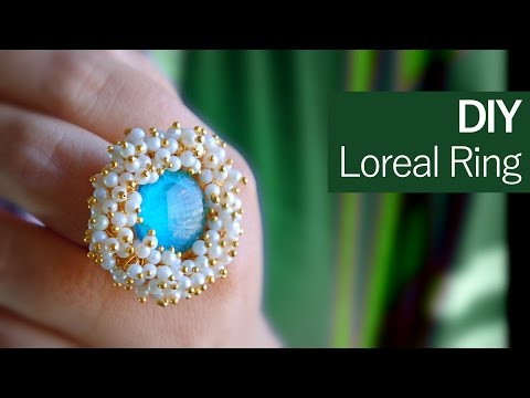 How to make a pearl ring from washer | DIY loreals ring | jewelry making |Beads art