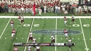 Ryan Tannehill vs Arkansas 2011