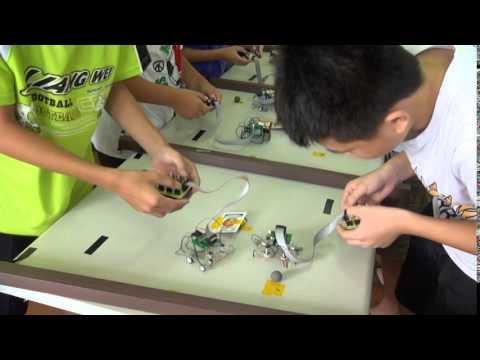 樂學網線上補習-思頂機器人-2014夏令營 清潔王足球賽