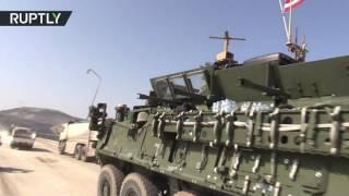 Video US armoured convoy enter Manbij, Syria MP3, 3GP, MP4, WEBM, AVI, FLV November 2017