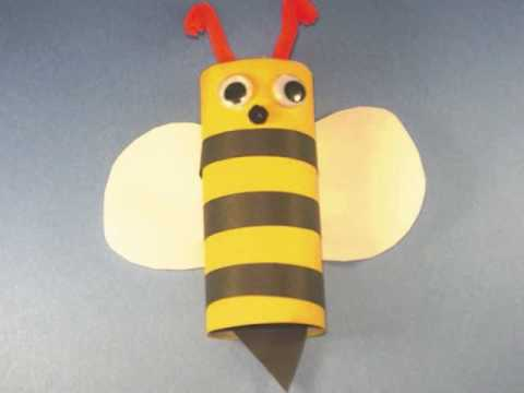 How to Make an toilet paper tube Bumble Bee – EP