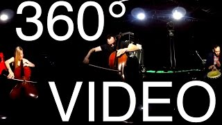 "360 Music Video - ""Solid Ground"", written and performed live by cello rock band, Break of Reality.Download on iTunes: http://apple.co/1O3ejzdSheet Music for ""Solid Ground"": http://bit.ly/1PhaB61 //EXPAND FOR MORE INFO**360 Degree Video may not work as intended on all devices. Try using Chrome as a browser or a smartphone through the YouTube App.Cellists: Patrick Laird, Laura Metcalf and Andrew JanssPercussionist (djembe): Ivan TrevinoBreak of Reality plays exclusively on Pirastro Strings (www.Pirastro.com) and uses DPA microphones (www.DPAMicrophones.com)"