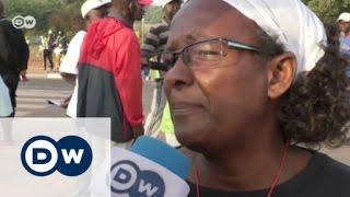 Mehr DW Nachrichten: http://www.dw.com/de/themen/s-9077 In Guinea-Bissau haben tausende Menschen gegen Präsident Mario Vaz protestiert.