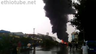[Sad News] Road Accident Involving Oil Transporter Causes Massive Fire In A. Ababa