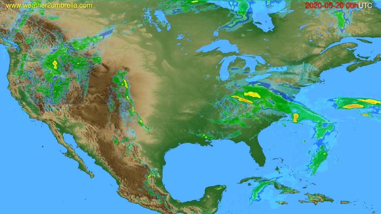 Radar forecast USA & Canada // modelrun: 12h UTC 2020-05-19