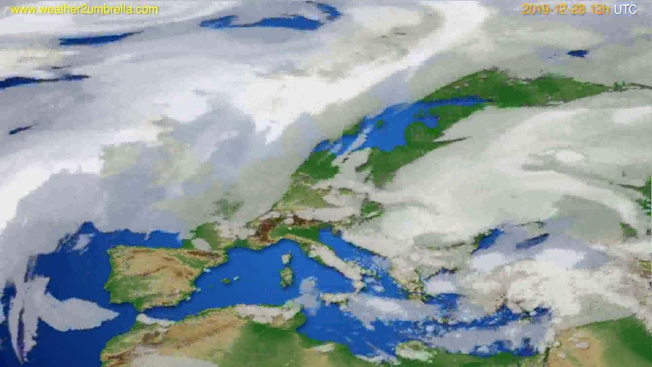 Cloud forecast Europe // modelrun: 12h UTC 2019-12-27