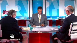 Syndicated columnist Mark Shields and New York Times columnist David Brooks join Hari Sreenivasan to discuss the week's ...