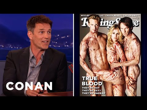 Stephen - When Anna Paquin, Alexander Skarsgård, & Stephen arrived for their Rolling Stone cover shoot, things got sexy. More CONAN @ http://teamcoco.com/video Team Coco is the official YouTube channel...