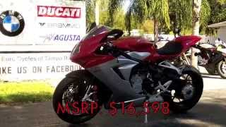 2. 2014 MV Agusta F3 800 ABS in Red/Silver Walkaround Video at Euro Cycles of Tampa Bay