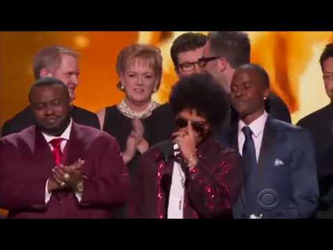 "Bruno Mars wins Album of the Year at the Grammys 2018 and says ""Thank You"""