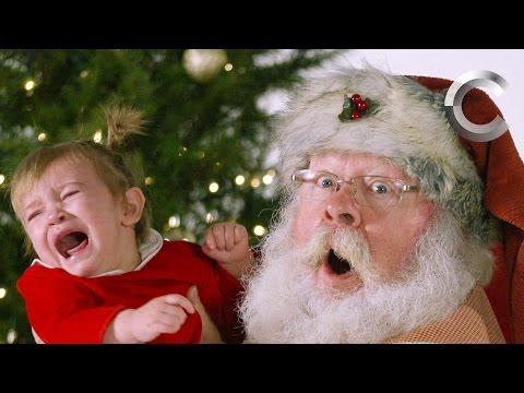 Неожиданная реакция детей на Санта Клауса