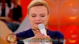 Eliana chora com a canção Ressuscita-me de Aline Barros