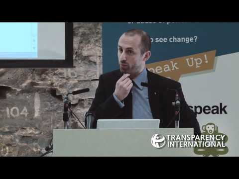 John Devitt speaks at launch of event for Transparency International Ireland's Speak Up Helpline