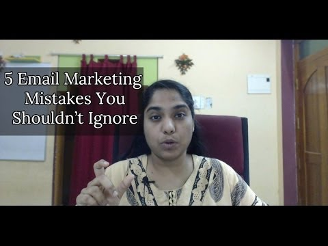 Watch '5 Email Marketing Mistakes You Shouldn't Ignore - YouTube'