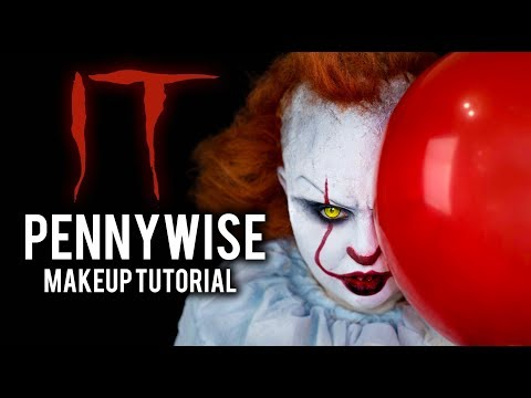 IT - PENNYWISE | HALLOWEEN COSTUME MAKEUP TUTORIAL