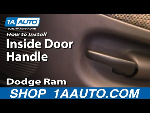 how to install replace broken inside door handle dodge ram pickup 94 01 car fix diy. Black Bedroom Furniture Sets. Home Design Ideas