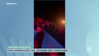 Dono de chácara é multado por aglomeração em Lençóis Paulista