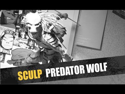 Predator wolf plastilina