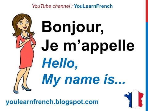 French Lesson 15 - Conversation basique (Introduce yourself basic conversation) Lecciones de Frances