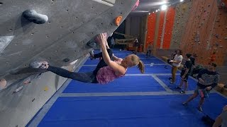 Charlotta Has Found A New Project To Work On! by Eric Karlsson Bouldering