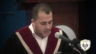 مناقشة رسالة ماجستير الباحث أدهم أبو سلمية