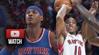 DeMar DeRozan vs Carmelo Anthony Full Duel Highlights Raptors vs Knicks (2014.10.24) - SICK!