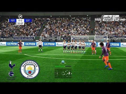 PES 2019 | Tottenham vs Manchester City | Free Kick Goal L.Sane | UEFA Champions League - UCL