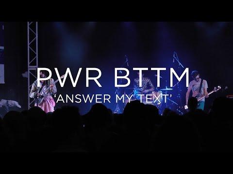 PWR BTTM: 'Answer My Text' SXSW 2017