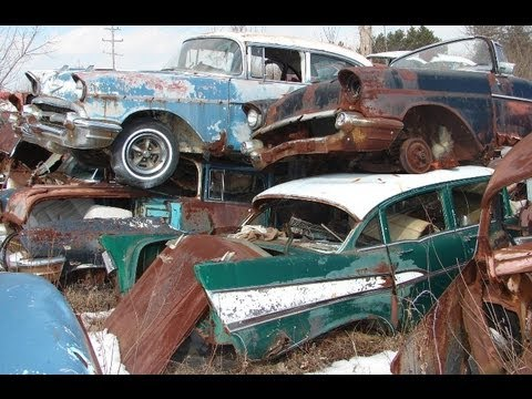 Huge Classic Car Junkyard – Wrecked Vintage Muscle Cars