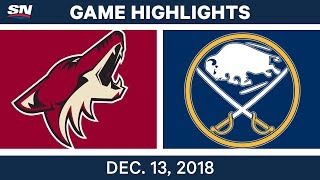 NHL Highlights | Coyotes vs. Sabres - Dec 13, 2018 by Sportsnet Canada