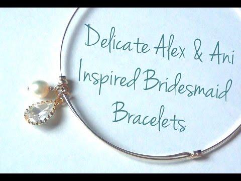 Adjustable Sliding Charm Bracelets Bridesmaid Bracelets ♥ DIY Wedding