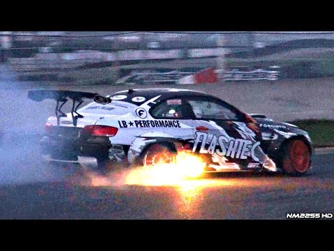 drifting & fiamme - bmw m3 e92 con 750hp!